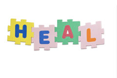 Heal Alphabet Stock Images
