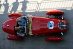 1949年Healey 2400希尔弗斯通D型在Mille Miglia 免版税图库摄影