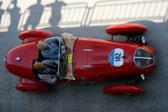 1949 Healey 2400 Silverstone-D-Type in Mille Miglia Royalty-vrije Stock Fotografie