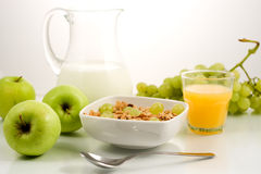 Healhty食物,早餐 免版税库存照片