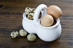 Healhty鸡蛋 图库摄影