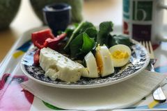 Healhty breakfast with coffee Stock Image