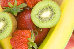Healhty fruit. Fresh colorful healthy fruit background royalty free stock photos