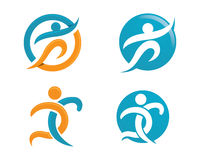 Healhty Life And Fun Logo Royalty Free Stock Photos