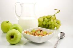 Healhty mat, frukost Arkivbilder