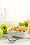 Healhty mat, frukost Arkivfoto