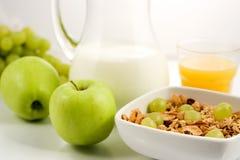 Healhty mat, frukost Arkivfoton