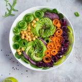 Healhty vegan lunch bowl stock photo