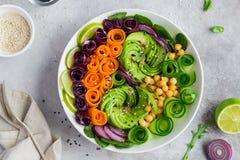 Healhty vegan lunch bowl royalty free stock photos