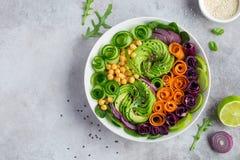 Healhty vegan rainbow lunch bowl Stock Photography
