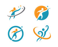 Healhty życie i zabawa logo Zdjęcie Royalty Free
