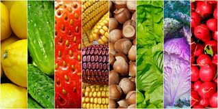 Healhy foods background. Healhy foods fresh fruits and vegetables background Stock Images