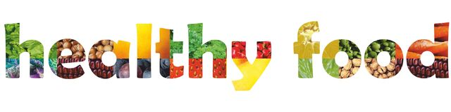 Healhy foods. Fresh fruits and vegetables frame background Stock Images