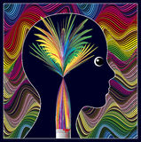 Healing through Arts. Art therapy to overcome mental problems and to enrich personality Stock Image