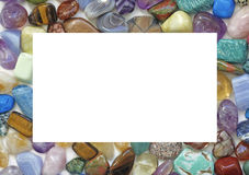 Healing Crystal Gemstone Filled Border Stock Photography