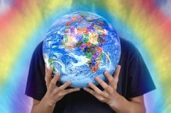 Healing the Earth stock image
