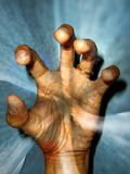 Healing Energies Cyclone. A cyclone of energies coming out of a healers hand Stock Photo