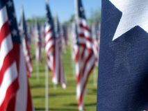 Healing Fields. The flag display for the 9-11 'Healing Fields' memorial Stock Photos