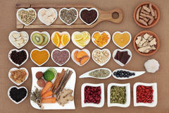 Healing Food and Herbs Stock Image
