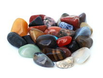 Healing gem stones Stock Photo