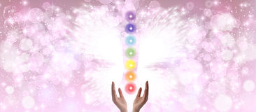 Healing Hands and Seven Chakras Stock Image