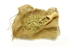 Healing herbs with scoop for the winter flu. Homeopathy. Healing herbs with scoop for the winter flu Royalty Free Stock Images