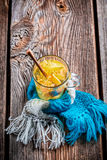 Healing linden tea for cold evenings Royalty Free Stock Photos