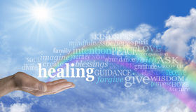 Healing Rainbow Sky Word Cloud Stock Photography