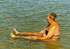 Healing in the salt water. Stock Images
