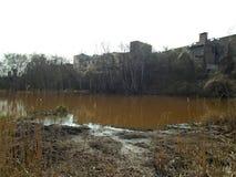 Healing spa mud and peat bog. Natural spa. Medical nature place Royalty Free Stock Photos