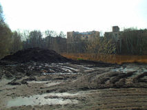 Healing spa mud and peat bog Stock Photos
