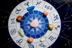 Healing stones and astrology Royalty Free Stock Photo