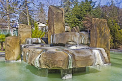 Healing sulphide spring. FEB 9, 2016, SOCHI, RUSSIA - Healing sulphide source in Macesta. This water heals a troubles of locomotorium Royalty Free Stock Photo