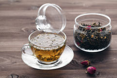 Healing tea with herbs and rode hip Royalty Free Stock Image