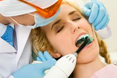 Healing teeth Royalty Free Stock Image