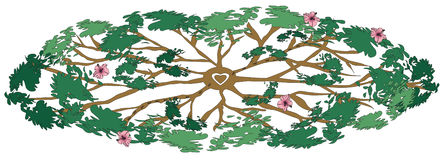 The Healing Tree. Computer illustration of a healing tree Royalty Free Stock Images