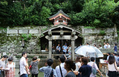 Healing waters of Kiyomizu Temple Royalty Free Stock Photography