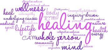 Healing Word Cloud. On a white background Stock Photo