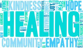 Healing Word Cloud. On a white background royalty free illustration