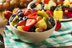 Heallthy Organic Fruit Salad Royalty Free Stock Photography