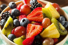 Heallthy Organische Fruitsalade royalty-vrije stock foto's