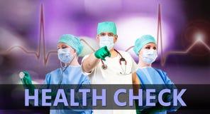 Healt check medical background Stock Image