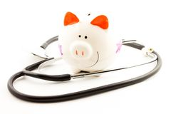 Healt insurance piggy bank Royalty Free Stock Photography
