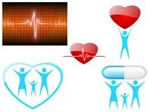Health. Illustration of medical icons. Health symbols Stock Image