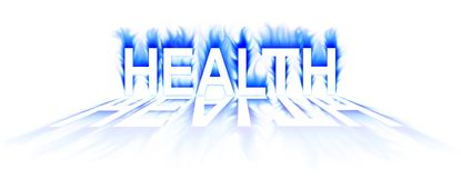 Health. Word in abstract  white background Stock Photography