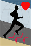 Health. Heart sport and health Stock Photo