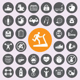 Health andFitness icon set.Vector/EPS10. Stock Photography