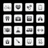 Health app icon set. Vector Royalty Free Stock Photo