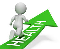 Health Arrow Shows Well Healthcare And Men 3d Rendering Stock Images