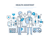Health assistant concept. Joint work, assistant doctor. Team medical people. Royalty Free Stock Photo